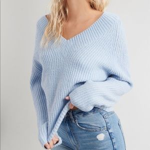GARAGE Marla Sweater V-neck Powder Blue